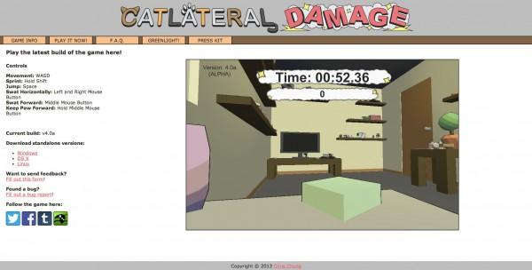 140117CATLATERALDAMAGE 600x304 - 猫が棚から物を落とす気分が分かるゲーム「CATLATERAL DAMAGE」