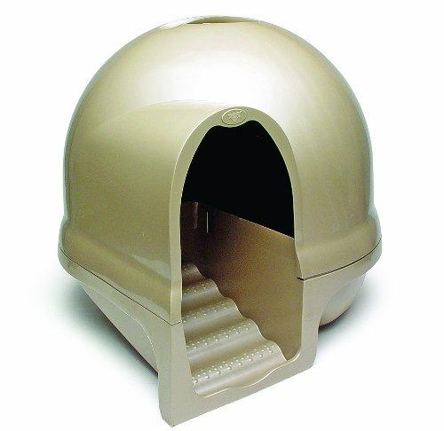 140214cattoilet - 猫砂散乱を防ぐデザイン猫トイレ「Booda Clean Step Litter Box」