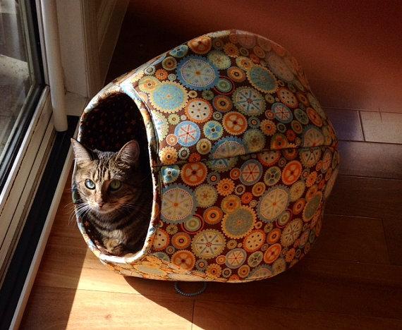 140412catball03 - やんちゃ派にも、まったり派にも使える猫ベッド「Cat Ball」