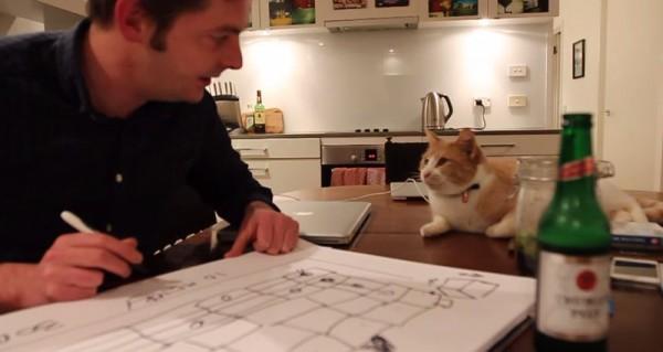 140427catbox02 600x319 - 段ボール猫タワーのメイキング、猫の満足度が伝わる動画に