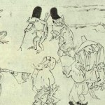 「鳥獣人物戯画巻」に描かれた烏帽子猫が、やたらとかわいい