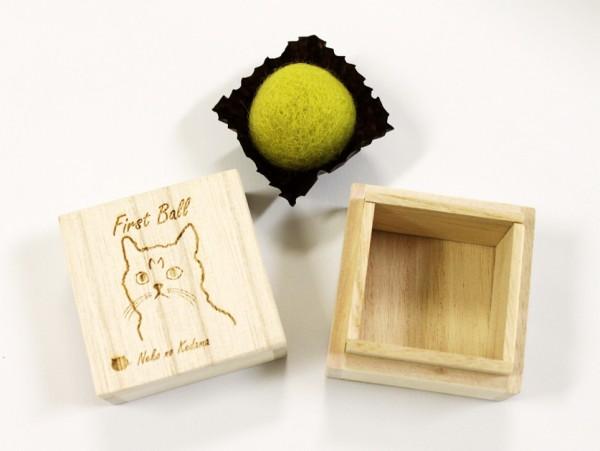 150928kedamaBOX01 600x451 - ブラシで集めた猫毛玉に、桐製の専用BOXが登場