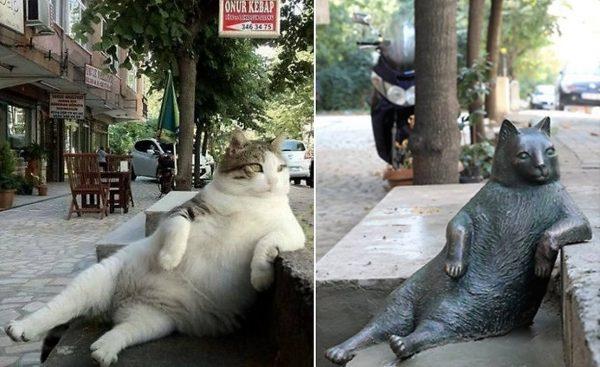 161004Tombili 600x367 - イスタンブールの路上に座るあの猫、銅像になり皆の心に生き続ける