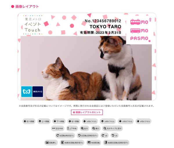 170621catpasmo02 600x509 - 自分で撮った愛猫写真をPASMO化できる「東京メトロイベントTouch」会員証