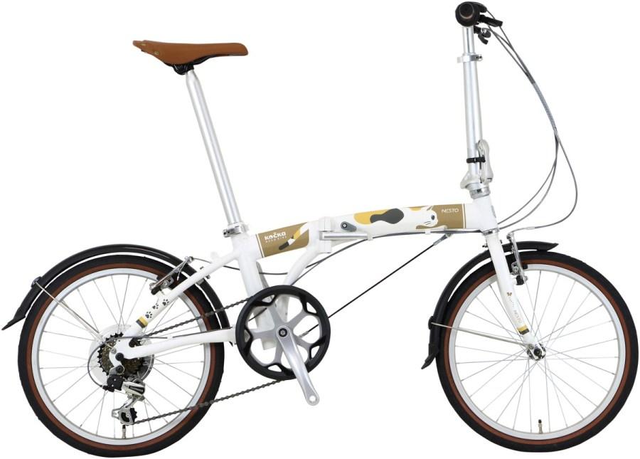 前モデルから1割余り計量化、キジトラ・黒・白の折りたたみ自転車