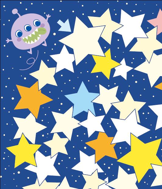 宇宙人と星空