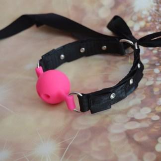 Black pink gem ball gag