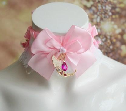 DDLG collar - Pink moonlight