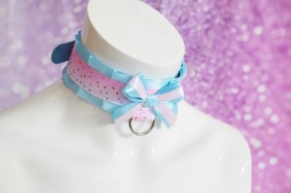 Kitten play buckle collar - Pastel Blue Sky