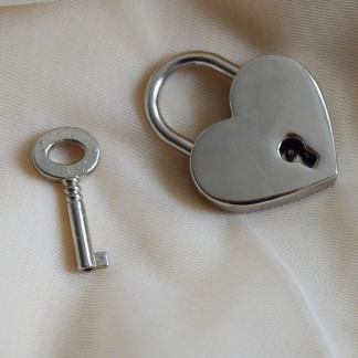 Silver padlock