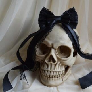 Black gothic hairbow