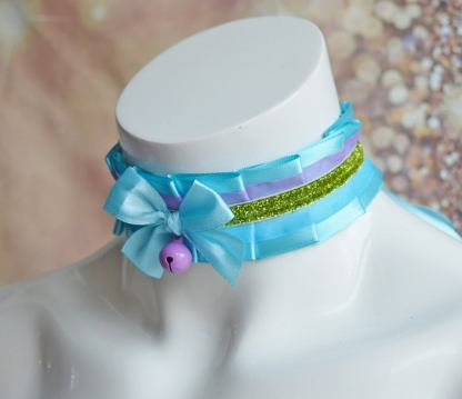 DDLG play collar - Moss Agate