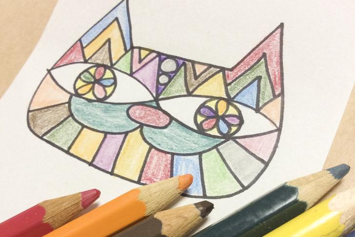 猫の塗り絵