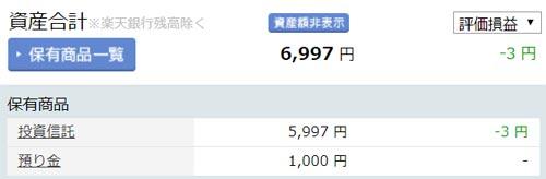 2018年11月の楽天証券の100円積立投資の運用状況を公開