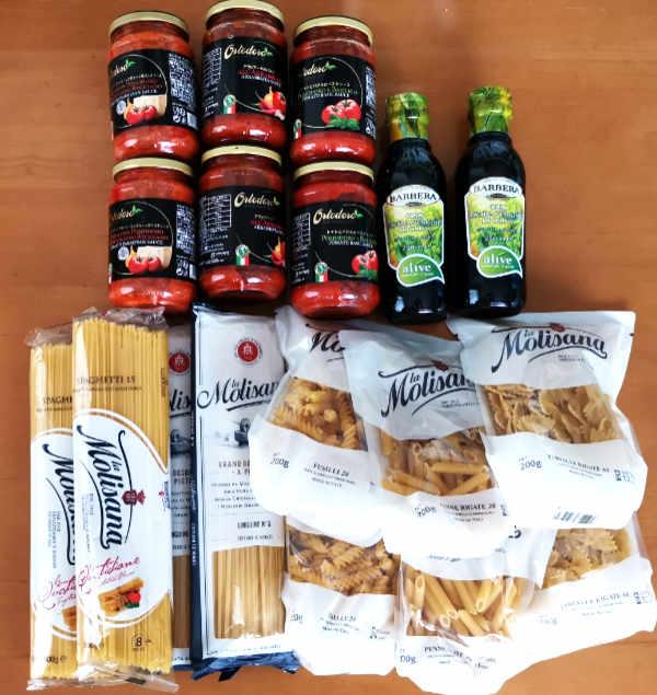 「パステル」の5種のパスタとオリーブオイル&ソースセット