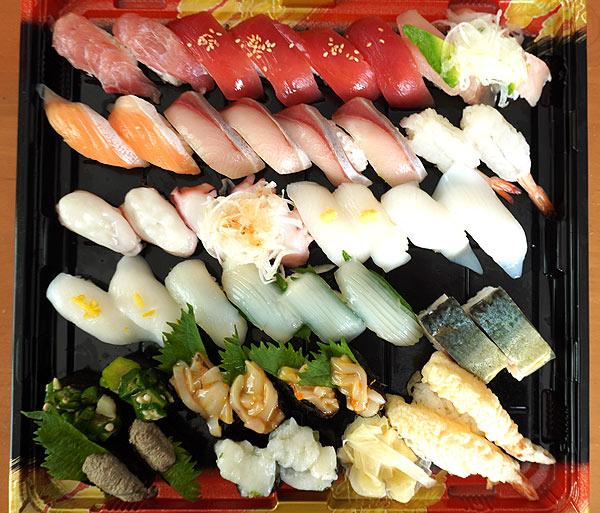 はま寿司でテイクアウトしたお寿司