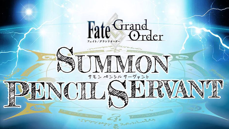 Fate/Grand Order Summon Pencil Servant
