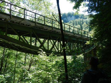 Brücke der Sauschwänzlebahn bei den Wutachflühen