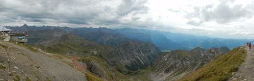 Blick vom Nebelhorn auf die Seealpe