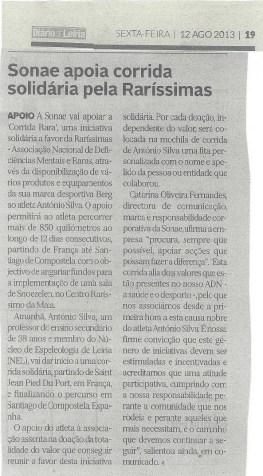12 Agosto 2013 – Diário de Leiria