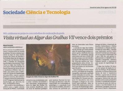 29 Agosto 2013 – Jornal de Leiria