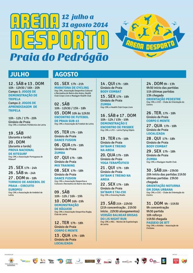 CARTAZ_A3 - ARENA DO DESPORTO_2014_PRAIA DO PEDRÓGÃO