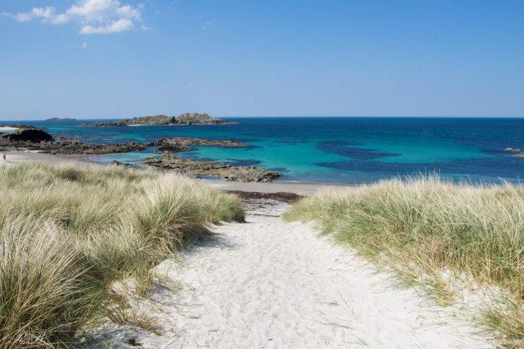 Le incredibile spiagge bianche dell'Isola di Iona