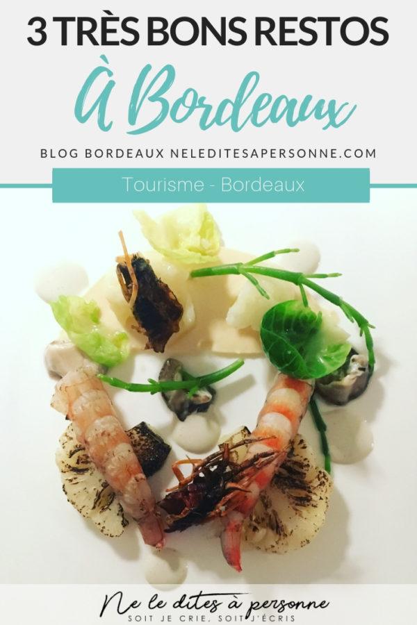 3 très bons restaurants étoilés à Bordeaux - Blog Bordelais Ne le dites à Personne - Pierre Gagnaire - Nicolas Magie - Thomas Morel - #restaurantsbordeaux #restaurantsétoilés #étoilesmichelin #tourismebordeaux #gastronomie #blogbordeaux #neleditesapersonne