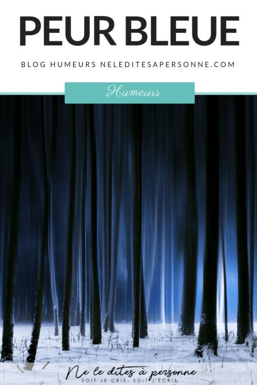 Peur Bleue et heure bleue - Blog humeurs Ne le dites a Personne #dépassersespeurs #timidité #angoisse #sedépasser #bloghumeurs #neleditesapersonne