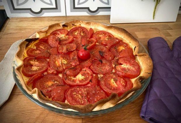 Recette facile et rapide de tarte à la tomate et moutarde