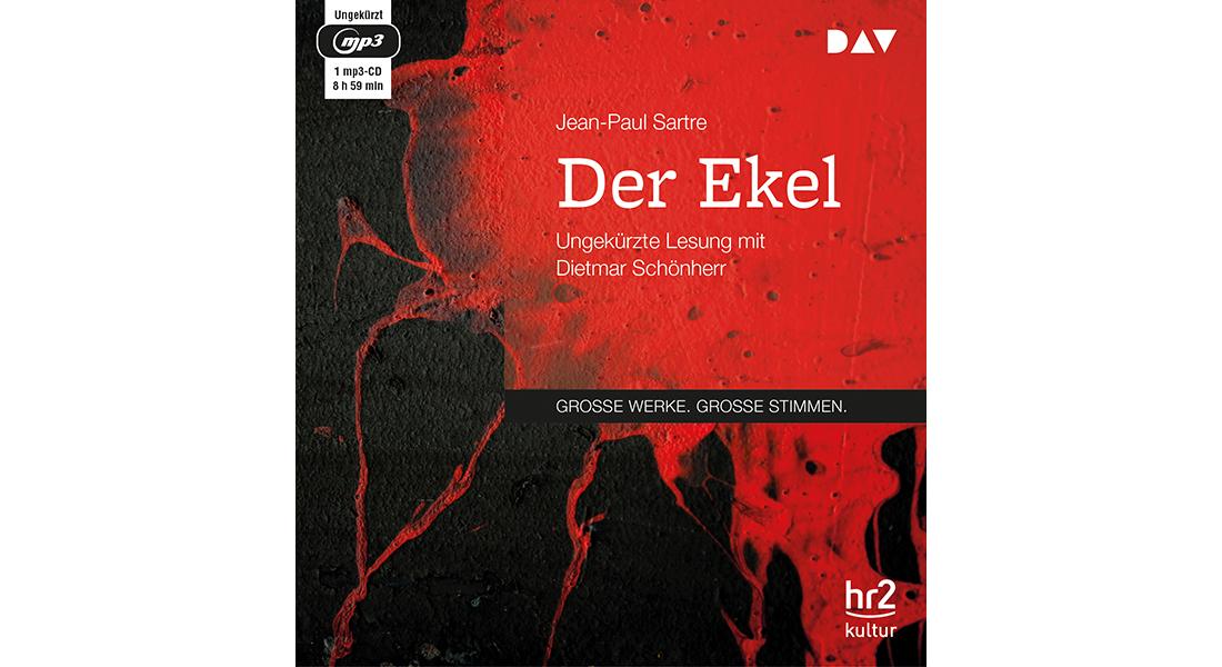 """Cover vom Hörbuch """"Der Ekel"""" von Jean-Paul Sartre"""