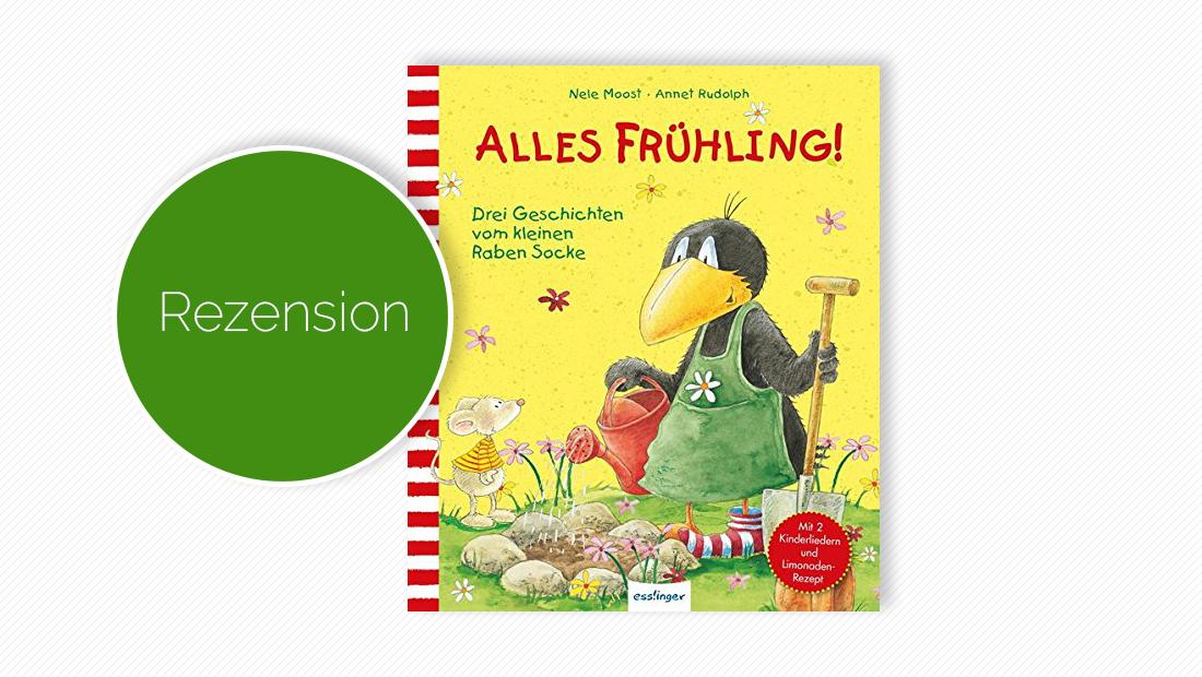"""Buchcover vom Bilderbuch """"Der kleine Rabe Socke: Alles Frühling!"""""""