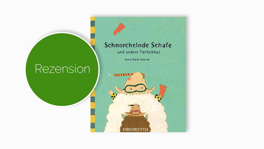 """Cover vom Bilderbuch """"Schnorchelnde Schafe und andere Tierhobbys"""""""