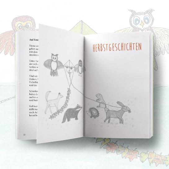 """Innenseiten vom Kinderbuch """"Gedichte und Geschichten zur Herbstzeit"""""""