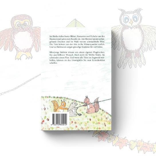 """Rücktitel vom Kinderbuch """"Gedichte und Geschichten zur Herbstzeit"""""""