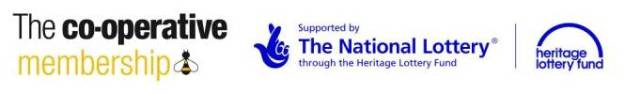 Co=operaative and National Lottery logos