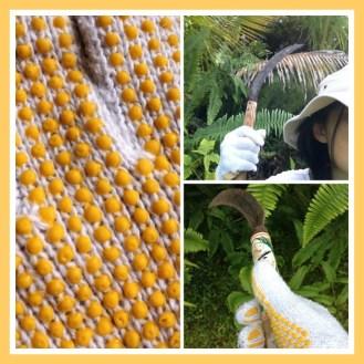 yellow gloves -- 黄色い軍手