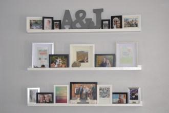 diy photo wall, photo collage wall, how to arrange photos, photo frame arrangement