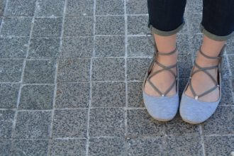 DIY Dollar Store Lace Up Flats