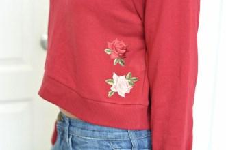 DIY Crop Top Patch Sweater
