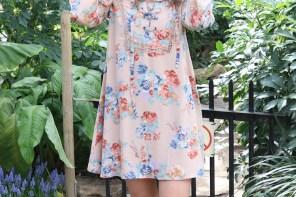 Floral Lace Up Dress