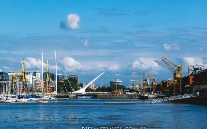 Puente de la Mujer;Women's Bridge in Buenos Aires;Nelmitravel;Puerto Madero;Buenos Aires travel;