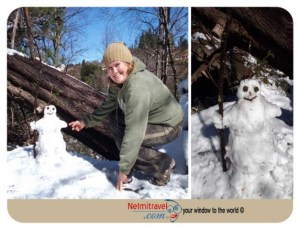 La Cumbrecita,snowman,funny snowman,building a snowman,how to build a snowman
