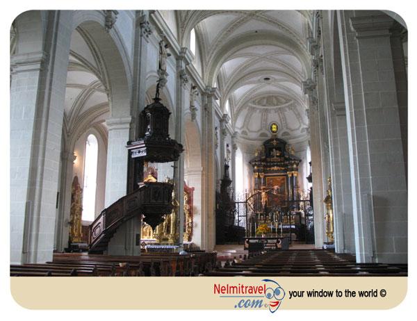 St Leodegar, Hofkirche, Hof Church, Lucerne, Switzerland, Landmarks in Lucerne