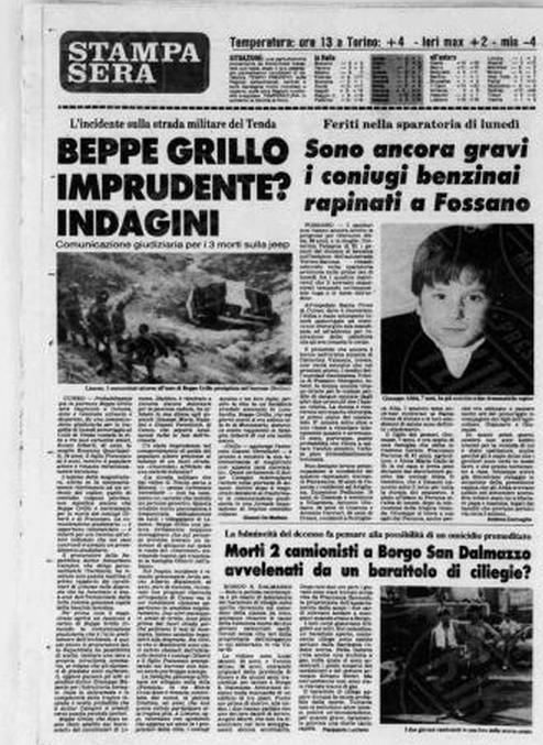 Beppe Grillo ha ucciso la mia famiglia e si è sempre rifiutato di incontrarmi - Parla la superstite del terribile incidente (2/4)