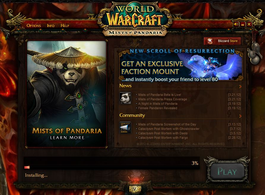 World of Warcraft Mists of Pandaria Beta Test software Download