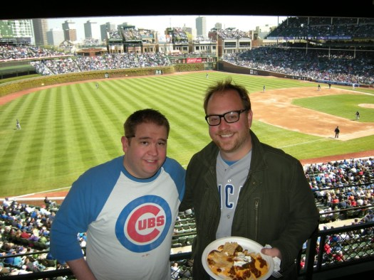 Nels Lindahl and Andy at Wrigley