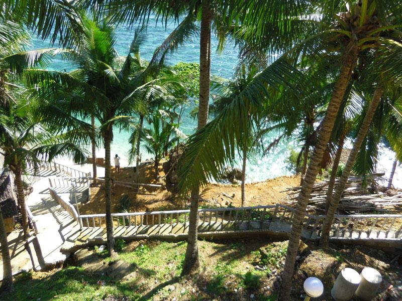 View from the Kenyama Beach Resort terrace