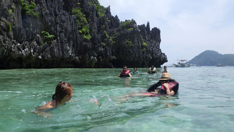 Swimming to Hidden Beach