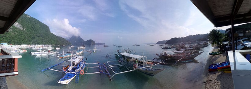 View from El Nido Sands Inn